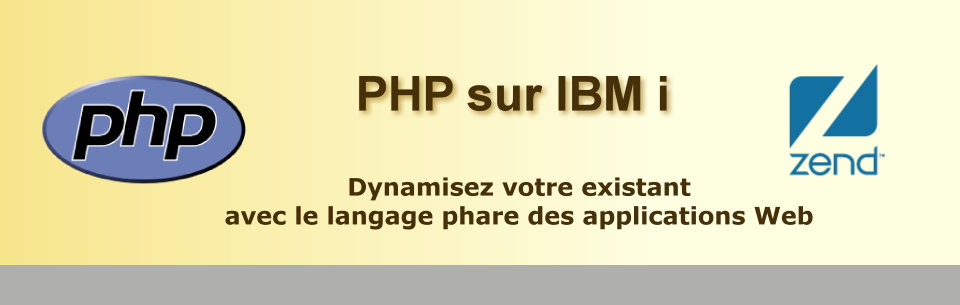 PHP sur IBM i, PHP AS400, Zend server i